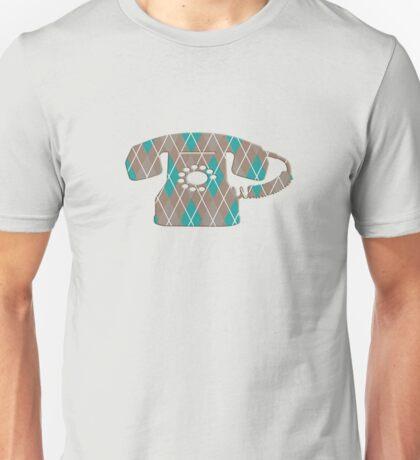Argyle Vintage Rotary Telephone Unisex T-Shirt