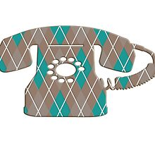 Argyle Vintage Rotary Telephone by surgedesigns