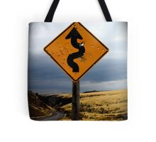 Curves ahead Tote Bag