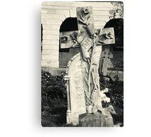 Decorated cross Brompton Cemetery Canvas Print