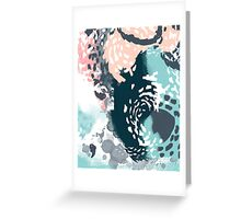 August - Abstract art phone case gifts ideas for feminine bold modern bright happy colors Greeting Card