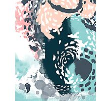 August - Abstract art phone case gifts ideas for feminine bold modern bright happy colors Photographic Print