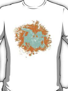 Drumset Splatter 3D look silhouette T-Shirt