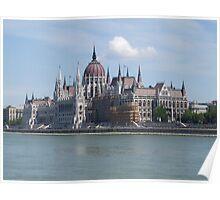 Budapest Parliament Building Poster