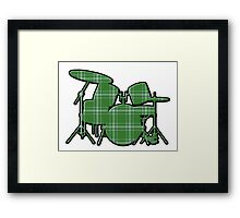 Plaid Drumset Framed Print