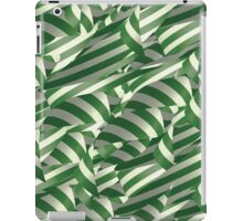 Green and White Decorative Ribbons iPad Case/Skin