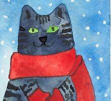 Christmas Kitten in Mittens by CCallahan