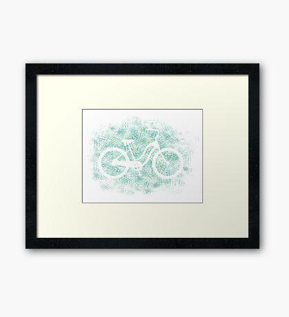 Beach Cruiser Bike Silhouette Framed Print