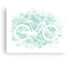 Beach Cruiser Bike Silhouette Metal Print
