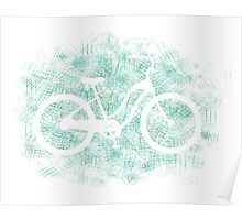 Beach Cruiser Bike Silhouette Poster