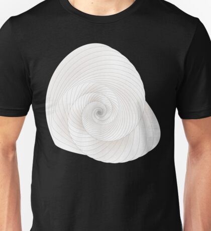 Abstract White Peacock Unisex T-Shirt