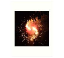 Sparks in Motion Art Print