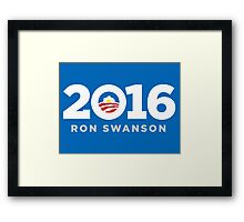 Ron Swanson 2016 sticker mug campaign poster Framed Print