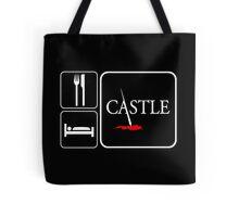 Food Sleep Castle Tote Bag