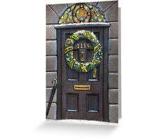 Sherlock Christmas 221 b Greeting Card