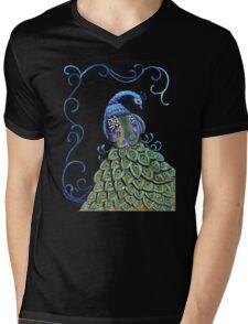 """Peacock Wonder"" Mens V-Neck T-Shirt"