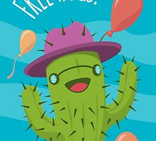Free Hugs Print / Funny Cactus Illustration by twister025