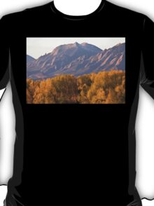 Golden Autumn Boulder Colorado Flatiron View T-Shirt