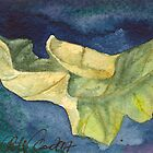 Autumn leaf Watercolor by CCallahan