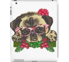 Cute pug in glasses iPad Case/Skin