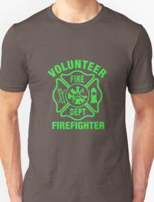 Volunteer Fire Dept - GREEN Unisex T-Shirt
