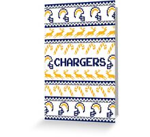 Chargers Football Christmas Ugly Sweater Greeting Card