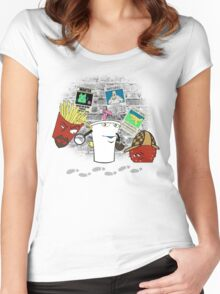 Old School Detectives Women's Fitted Scoop T-Shirt