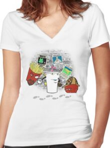 Old School Detectives Women's Fitted V-Neck T-Shirt