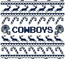 Cowboys Football Christmas Ugly Sweater by CosmikMonkey