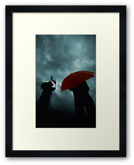 Red Umbrella III by Bogac Erguvenc