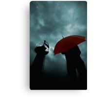Red Umbrella III Canvas Print