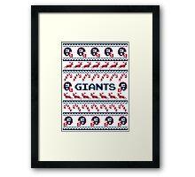 Giants Football Christmas Ugly Sweater Framed Print