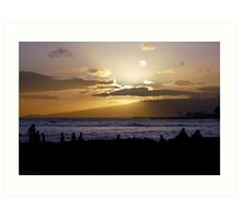 Waikiki Sunset Art Print
