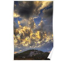 Clouds over Pueblo Espárragos Poster