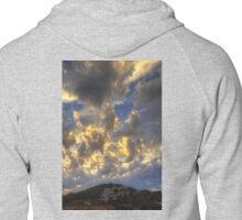 Clouds over Pueblo Espárragos Zipped Hoodie