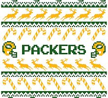 Packers Football Christmas Ugly Sweater by CosmikMonkey