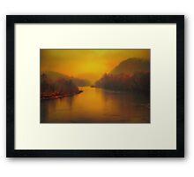 light in the fog Framed Print