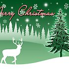 Christmas Deer Card by silverdew