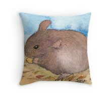 Mouse pen and ink Illustration Throw Pillow