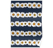 Daisy Chains on Navy Poster