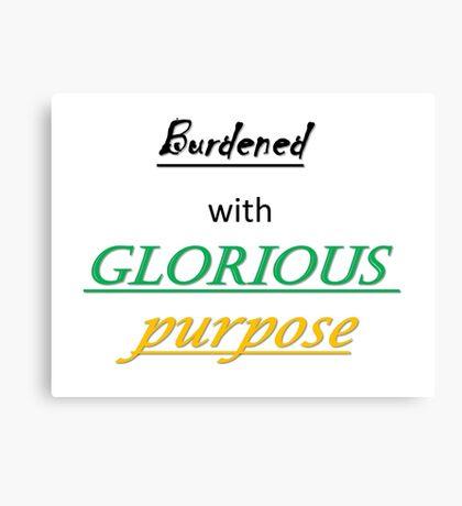 Glorious Purpose Canvas Print
