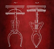 Police Nippers Patent 1885 by Patricia Lintner