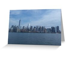 The Financial district, New York  Greeting Card