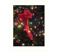 Lights and ribbon Art Print