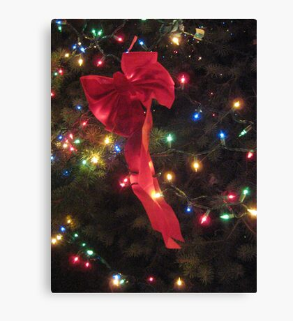 Lights and ribbon Canvas Print