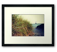 Lake Michigan dune grass Framed Print