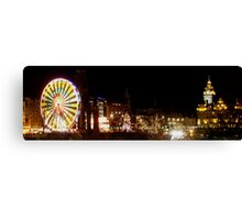 Princes Street at Christmas Canvas Print