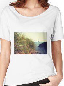 Lake Michigan dune grass Women's Relaxed Fit T-Shirt