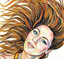 Hair Flip by Rachelle Dyer