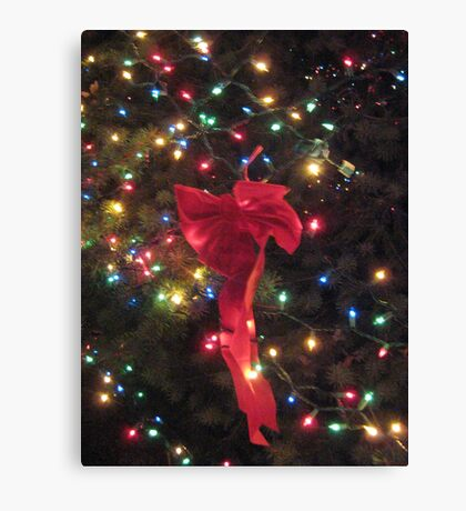 Lights and ribbon 2 Canvas Print
